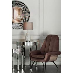Bohemia Empir Style Кресло велюровое серо-розовое
