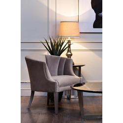 Bohemia Empir Style Кресло серое низкое велюровое