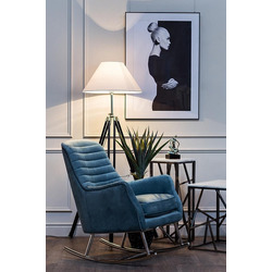 Bohemia Empir Style Кресло-качалка велюровое бирюзовое
