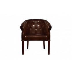 Bohemia Empir Style Кресло кожаное клубное темно-коричневое
