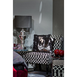 Bohemia Empir Style Кресло черно-белое (лён)