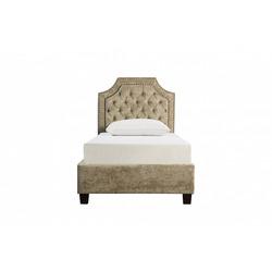 Bohemia Empir Style Кровать односпальная бежевая бархатная