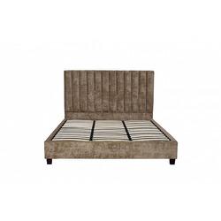 Bohemia Empir Style Кровать двуспальная бархатная бежевая