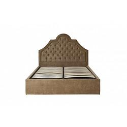 Bohemia Empir Style Кровать двуспальная бежевая бархатная (с подъемным механизмом)