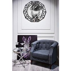 Bohemia Empir Style Столик журнальный металлический круглый серебряный