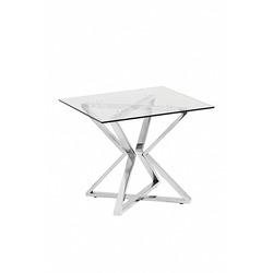 Bohemia Empir Style Журнальный столик со стеклом (серебряный)