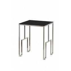 Bohemia Empir Style Журнальный стол из черного стекла серебряный