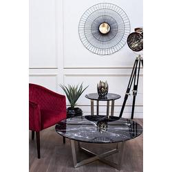 Bohemia Empir Style Стол журнальный черный (искусственный мрамор)