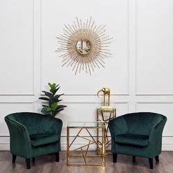 Bohemia Empir Style Столик журнальный квадратный с прозрачным стеклом (цвет золото)