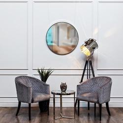 Bohemia Empir Style Столик журнальный с прозрачным стеклом (цвет хром)