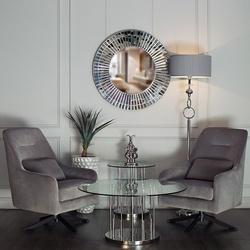 Bohemia Empir Style Столик журнальный круглый со стеклом