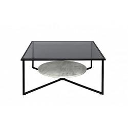 Bohemia Empir Style Стол журнальный квадратный с темным стеклом