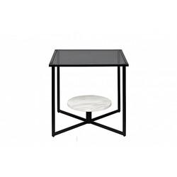 Bohemia Empir Style Столик журнальный квадратный с темным стеклом