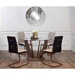 Bohemia Empir Style Стол обеденный со стеклом круглый