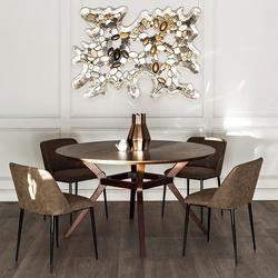 Bohemia Empir Style Стол обеденный круглый коричневый