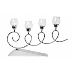 Bohemia Empir Style Подсвечник на 4 свечи серебряный