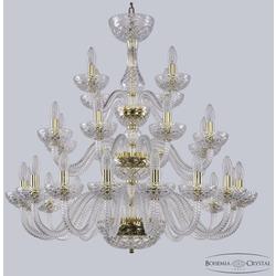 Bohemia Ivele Crystal Люстра хрустальная 1310/16+8+4/300/3d G Cl/Clear/M-1F