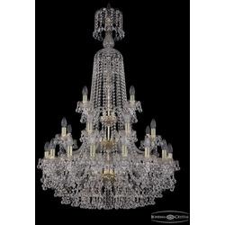 Bohemia Ivele Crystal Люстра хрустальная 1409/16+8+4/300/XL-130/3d G