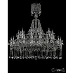 Bohemia Ivele Crystal Люстра хрустальная 1413/24+12/530/XL-160 Ni