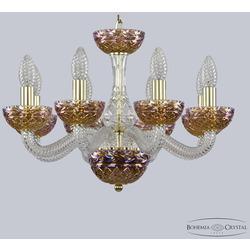 Bohemia Ivele Crystal Хрустальная люстра 1311/8/165 G Cl/Shampan/M-1F
