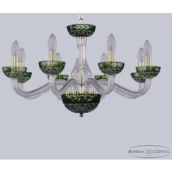 Bohemia Ivele Crystal Хрустальная люстра 1309/8/240 G Cl/Clear-Green/H-1J
